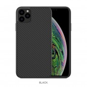 NILLKIN Synthetic Fiber Hard Plastic Protective Cell Phone Case for iPhone 11 Pro Max 6.5 inch - Black