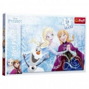 Puzzle Mare Trefl Elsa Frozen 24 piese