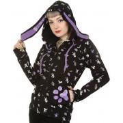 kapucnis pulóver női - Black - BANNED - HBN012
