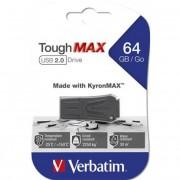 Pendrive, extra ellenálló, 64GB, USB 2.0, VERBATIM \ToughMAX\, fekete