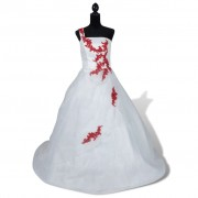 vidaXL Елегантна сватбена рокля модел А, размер 36