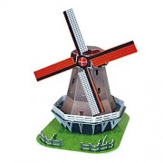 3D Jigsaw Puzzle -Windmill , Holland : Model Parts 45pcs - Ship by Pantos Express (approx 7 ~ 15 Business days...
