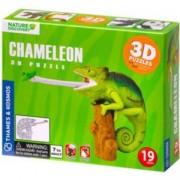 Дървен 3D пъзел - Хамелеон, Goki, 871506
