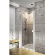 Schulte Home Porte de douche pivotante 90 cm, profilé blanc, anticalcaire