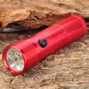 elegante 30LM blanco 8-LED linterna resistente al agua w / luz laser roja - rojo (3 x AAA)