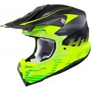 HJC i50 Fury Casco de Motocross Negro Amarillo XL