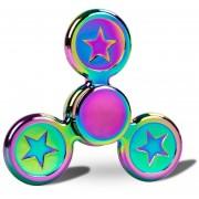 Spinner, Tri Fidget Spinner De Alta Velocidad Central Bearing 2-4 Minutos Hand Spinning Toy Spiner Colorido Para Niños Y Adultos (arco Iris)