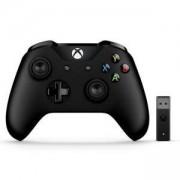 Геймпад Microsoft Xbox Controller + Wireless Adapter Gamepad PC, Черен, 4N7-00002