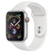 Apple Watch Series 4 GPS + Cellular 40mm Prateada com Bracelete Desportiva Branca