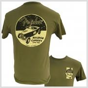 Pánske tričko HOT ROD Fender, krátke, zelené,S