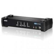 Aten Switch KVM USB DVI a 4 Porte con Audio e Hub USB, CS1764A