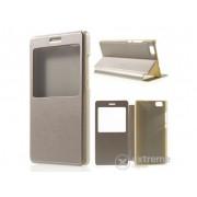 Husa din piele Gigapack S-View Cover pentru telefon Huawei P8 lite , aur
