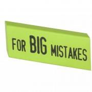 Merkloos XXL Big Mistake gum 14 x 4,5 cm groen