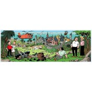Puzzle panoramic PuzzelMan - Bob and Bobette: The island of Amoras, 1.000 piese (43377)