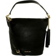 Geanta Michael Kors Elana Convertible Leather 30T6GE3L3L-001 Black Large