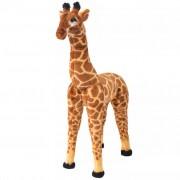 Sonata Плюшен детски жираф за яздене, кафяво и жълто, XXL