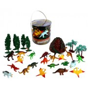 Dinosaur Action Figures - Big Bucket of Dinosaurs - Huge 30 Piece Set Full of Unique Fun