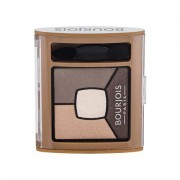 BOURJOIS Paris Smoky Stories Quad Eyeshadow Palette palette di ombretti 3,2 g tonalità 06 Upside Brown donna