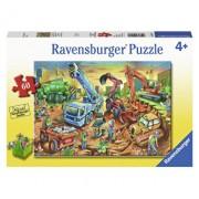 Puzzle Echipa pe santier, 60 piese