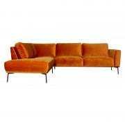 HomingXL Loungebank Tulp chaise longue links velours Brunei koper 18 2,24 x 2,70 mtr breed