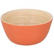 Merkloos Oranje bamboe snack schaaltje 12 cm