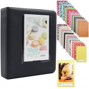 Ablus 64 Pockets Mini Photo Album for Fujifilm Instax Mini 7s 8 8+ 25 26 50s 70 90 Instant Camera & Name Card (Black)
