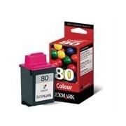 Lexmark 80 Cartucho de tinta (Lexmark 12A1980) color