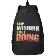 90HILLS Stylo 30L Printed Casual Laptop bag backpacks Waterproof Backpack(Black, 30 L)