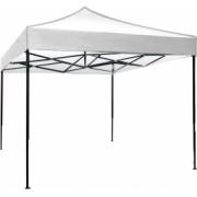 Cort Pavilion 3x4 5m Alb Pliabil Cadru Metal pentru Curte Gradina Evenimente