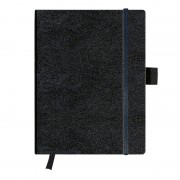 Agenda Herlitz My.Book 19 x 24,5 cm, coperta piele sintetica neagra