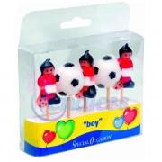 Set 5 lumanari figurine Fotbal