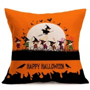 Halloween Decoration Pattern Car Sofa Pillowcase with Decorative Head Restraints Home Sofa Pillowcase K Size:43*43cm -HC3203K