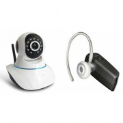 Zemini Wifi CCTV Camera and HM 1100 Bluetooth Headset for SAMSUNG GALAXY A7(Wifi CCTV Camera with night vision |HM 1100 Bluetooth Headset With Mic )