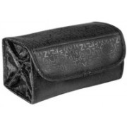 Techdizi Roll Go Cosmetic Shaving Jewelry Bag Organizer Pouch Travel Toiletry Kit(Black)