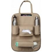 Pivalo PU Leather Car Auto Seat Back Multi Pocket Organizer Holder Backseat Hanger Accessory(Beige)