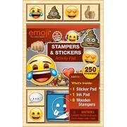 Bendon AS40940 Emoji Wooden Stamp Set