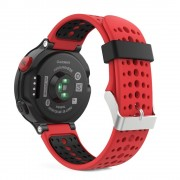 Curea silicon Tech-Protect Smooth Garmin Forerunner 220/230/235/630/735 Red/Black