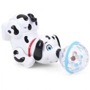 Emob 360 Degree Rotating Musical Dancing Robot Dog with Led Crystal Ball for Kids (Multicolor)