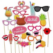 AsianHobbyCrafts Party Props : 20 pcs : for Photo Booths, Party Décor, Theme Parties (Flamingle)