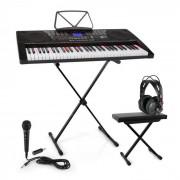 SCHUBERT Etude 225 USB Lern-Keyboard Set Kopfhörer,Keyboard-Stand & Sitzbank