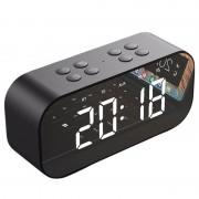 Coluna Bluetooth com Despertador LED AEC BT501 - Preto