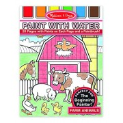 Melissa & Doug Paint with Water - Farm Animals, Multi Color
