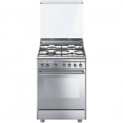 SMEG Cx68m8-1 Cucina 60x60 4 Fuochi A Gas Forno Elettrico 70 Litri Classe A Colo