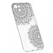 Husa Silicon Transparent Slim Black Flower 117 Apple iPhone 7 8