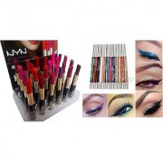 NYN LONG LASTING MATTE RICH COLOR PROFESSIONAL 24 SHADES LIPSTICK SET ADS Eye /Lip Liner Waterpoof 24Hours 12 color 1 AD