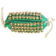 De-Ultimate 1 Pair Of Green Musical Kathak Bharatanatyam 4 Line Dancing 80 Bells Handmade Classical Odissi Ghungroo