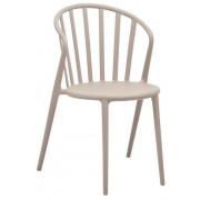 CHRselect Chaises à Barreaux en PP Café Empilable Lot de 12