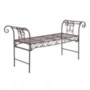 [casa.pro]® Градинска метална пейка в стил vintage, Кафяв