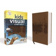 NIV Kids' Visual Study Bible, Imitation Leather, Bronze, Full Color Interior: Explore the Story of the Bible---People, Places, and History