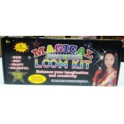 Magic Loom Magical Colorful Loom Kit, Includes Loom, Hook, Bands, Clips & Charms